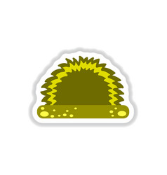 labels with shadow flat icon grass and bush vector image