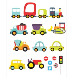 lovely transport vector image vector image