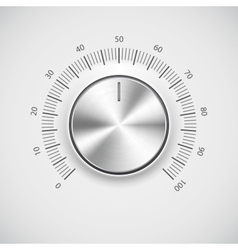 Modern volume knob button vector image
