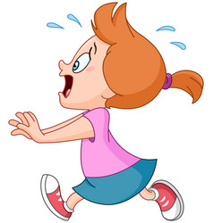 running panic girl vector image
