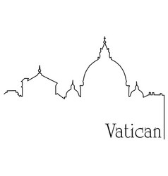 vatican city one line drawing background vector image