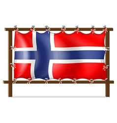 A frame with the flag of Norway vector image
