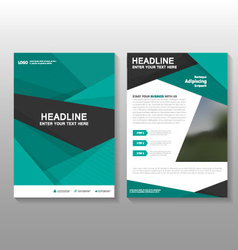 Abstract Green annual report Leaflet Brochure vector