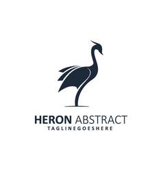 Abstract heron template vector