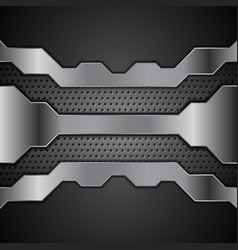 abstract metal technology design with perforated vector image