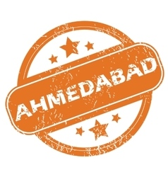 Ahmedabad round stamp vector