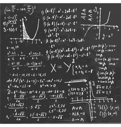Algebra Formula Board vector image