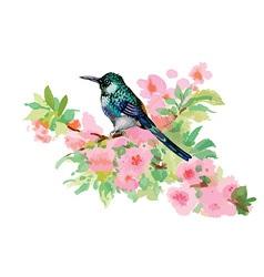 Artistic bird design vector