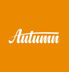 Autumn calligraphic text vector