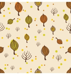 Autumn trees pattern vector image