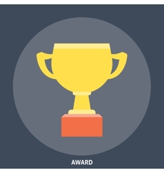 Award Cup Icon Flat vector image