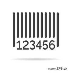 Barcode outline icon black color vector