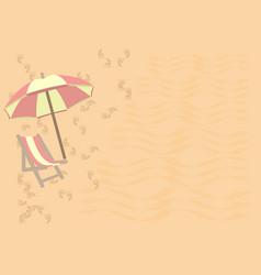 Beach background with umbrella vector
