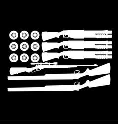 Black and white american vector