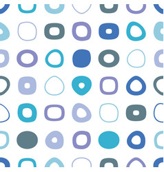blue seamless pattern with round shapes vector image