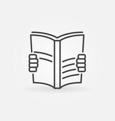 Book read icon vector