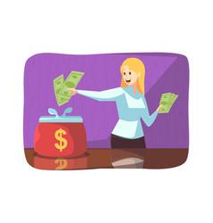 Business money saving deposit purchase concept vector