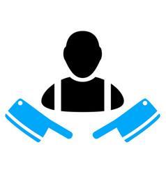 butcher man icon vector image