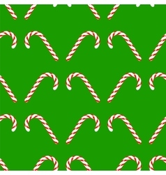 Candy Cane Seamless Pattern vector image
