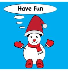 Cartoon snowman Isolated vector