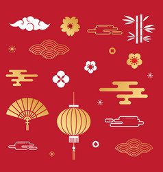 chinese decorative element vector image