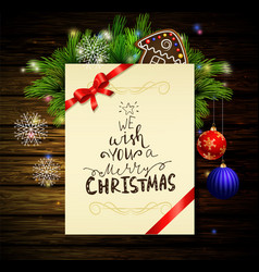 christmas background on wood vector image