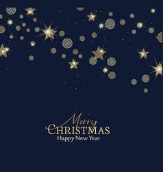Christmas golden stars vector