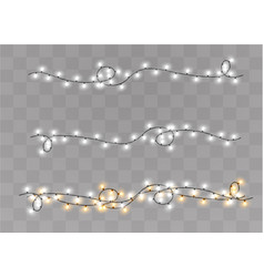 christmas lights isolated vector image