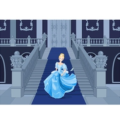 Cinderella Runs Away vector image