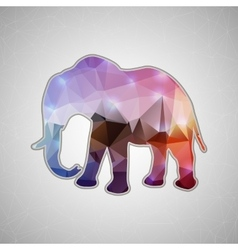 Creative concept elephant icon isolated on vector