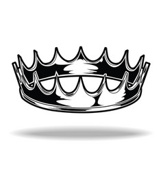 Crown black and white king queen 1 vector
