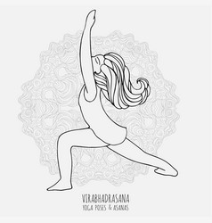 cute girl doing yoga yoga poses and asanas in vector image