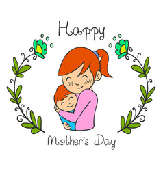 cute mother day style collection vector image