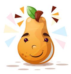 cute pear - cartoon characters vector image