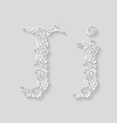 Decorated letter j vector image