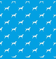 dog pattern seamless blue vector image