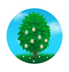Easter tree greeting card vector image