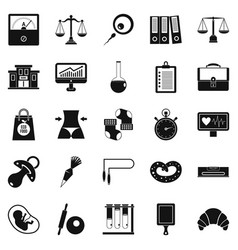 Estimation icons set simple style vector