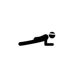 fitness plank icon element of fitness signs and vector image