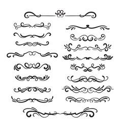 Flourishes vintage ornamental borders vector