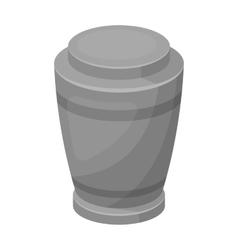 Funeral urns icon in monochrome style isolated on vector image