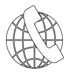 Global communications icon outline style vector
