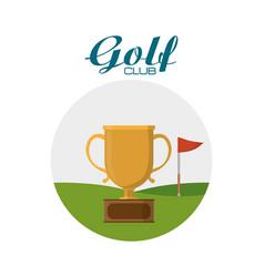 Golf club sport vector