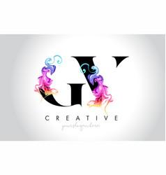 Gv vibrant creative leter logo design with vector