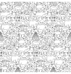 Hand drawn Europe seamless pattern vector image