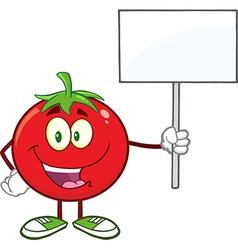 Happy Protesting Tomato Cartoon vector image vector image