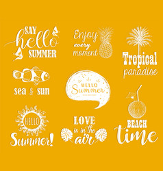 hello summer set vector image