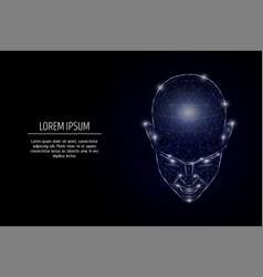 human mind geometric polygonal art style vector image
