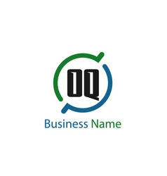 initial letter oq logo template design vector image