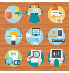 Internet shopping process purchasing and vector